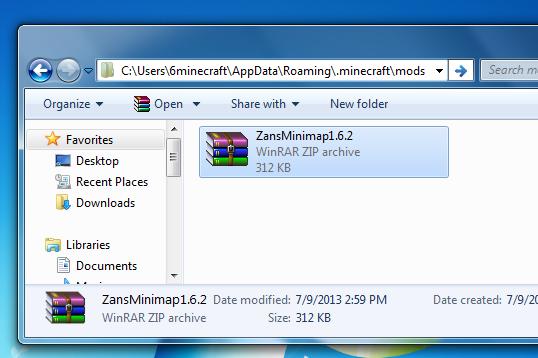 Minecraft Mods folder