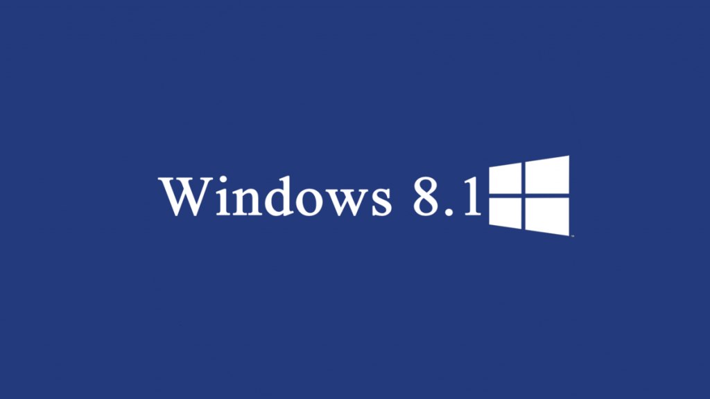 Windows 8.1 Wallpaper plain blue