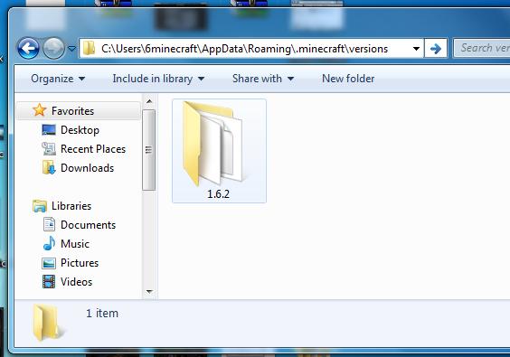 Minecraft versions folder