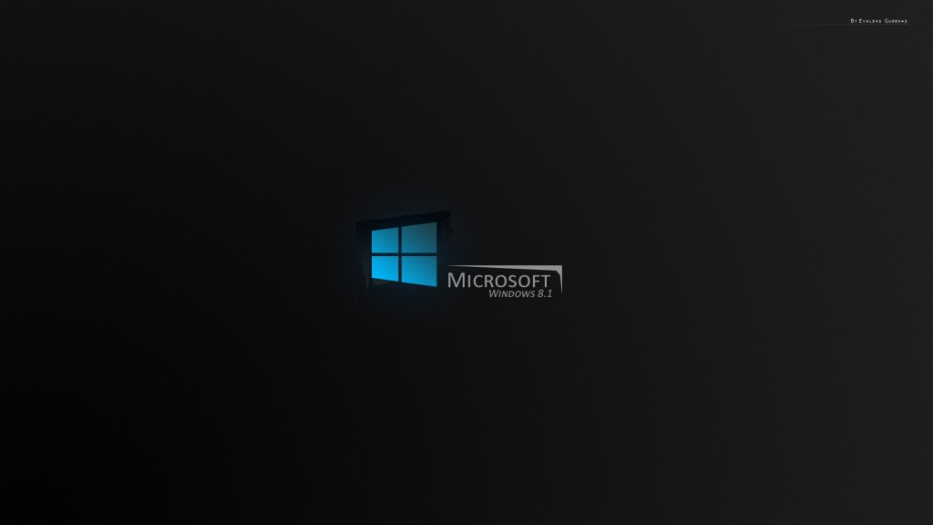 Windows 8.1 Wallpaper HD black