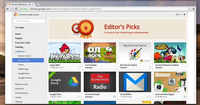 Google Chrome Web Store malicious apps scanner
