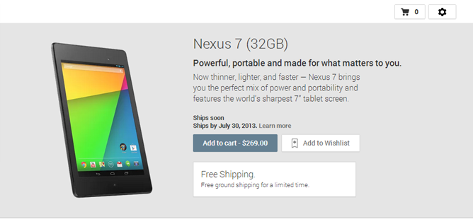 The New Nexus 7 Is Already Buy From Google Play