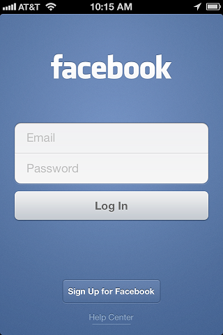 Login-facebook-mobile-phone